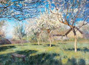 Цветущие яблони. 1896 г.
