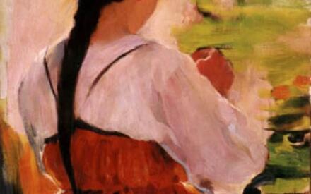 Крестьянка в красном сарафане