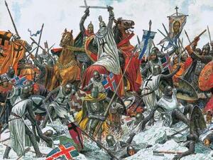 В 1240 году рыцари Ливонского ордена захватили Псков и Копорье.  Прибыв в Новгород в 1241 году, князь Александр...