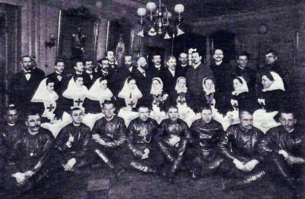 Врачебно-санитарный отряд РОКК, отправившийся в Трансвааль для помощи раненым бурам. 1899 г.