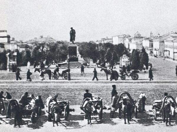 Извозчики на Страстной площади