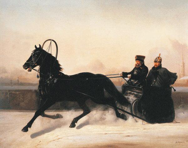 Быструю езду любил и Николай I. С картины Н.Е. Сверчкова