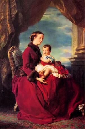 Ф. Винтерхальтер. Императрица Евгения с сыном