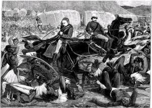 В этом бою погиб сын Евгении Наполеон IV