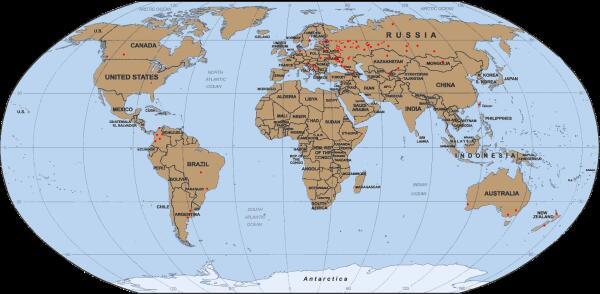 География участников Турнира городов