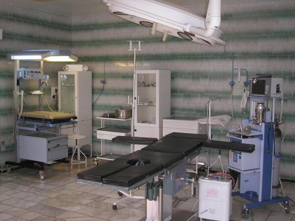 Операционная - здесь выполняется кесарево сечение