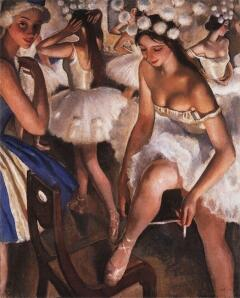 Балетная уборная. Снежинки. 1923