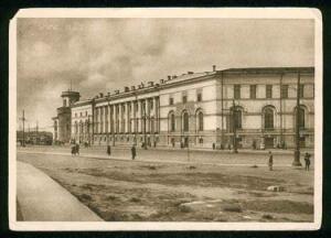 Зоологический музей в Петербурге. Почтовая открытка