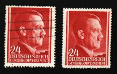 Портрет Адольфа Гитлера на почтовой марке