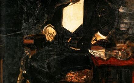Врубель М.А. Портрет Саввы Мамонтова. 1897 г.