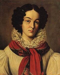 Н.П. Козлов . Портрет К.П. Ивашевой. Ок. 1831 г.