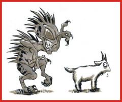 Ходит Чупакабра на двух ногах, чем отдаленно напоминает человекоподобное существо.