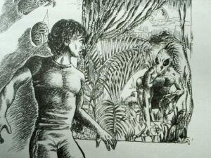 Эль Чупакабрас. Рисунок Э. Лами