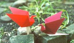 Журавлик оригами, схема - как сделать из бумаги, видео.