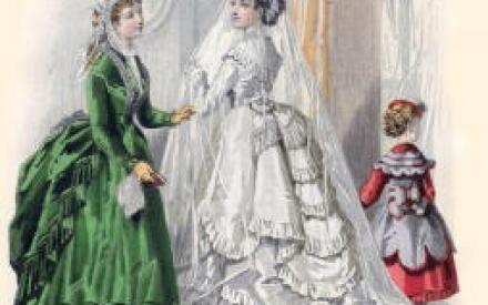 Венчальный наряд невесты 1860г.