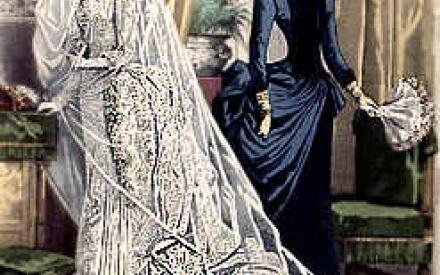 Венчальный наряд невесты 1880г.