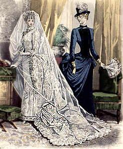 Считается, что фата, верхний слой которой опущен на лицо, бережет невесту от дурного глаза. Белизна полупрозрачной ткани свидетельствует о чистоте и