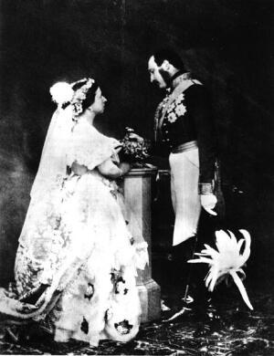 Бракосочетание королевы Виктории и герцога Альберта Саксен-Кобург-Готского, 1854г