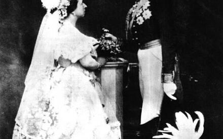 Бракосочетание королевы Виктории и герцога Альберта Саксен-Кобург-Готского, 1854г.