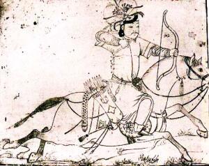 Монгольский лучник. Персидская миниатюра
