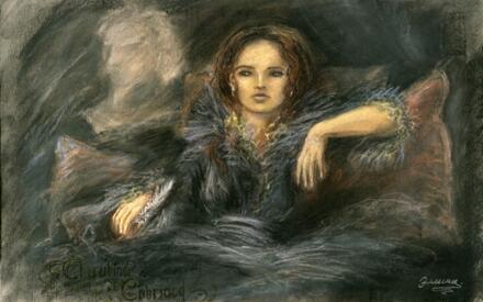 Черубина де Габриак в представлении потомков. Картина 2006 года