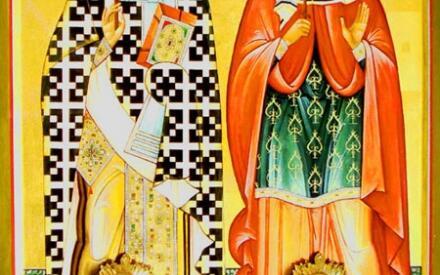 Икона святых с мощами, хранится на Кипре.