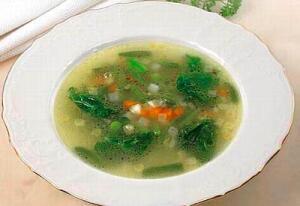 Пшённый суп с чесночком