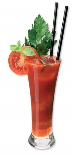 Для украшения.  Безалкогольные коктейли и напитки.  6/10 томатного сока.