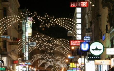 На рождественских улицах