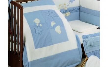 Комплект детского постельного белья синего оттенка— оптимальный выбор для вашего будущего Нобелевского лауреата.