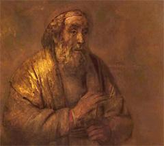 Фрагмент картины Рембрандта «Гомер»