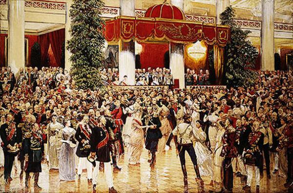 Д. Н. Кардовский. Бал в Петербургском Дворянском собрании