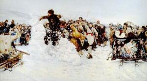 В. И. Суриков. Взятие снежного городка