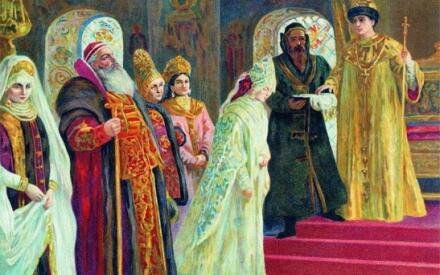 К.Е. Маковский. Выбор невесты царем Алексеем Михайловичем