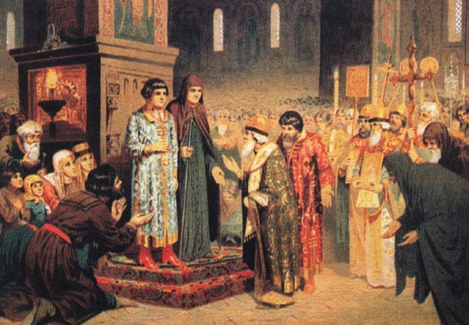 Михаил Фёдорович Романов - первый русский царь из династии Романовых, двоюродный племянник последнего русского царя.