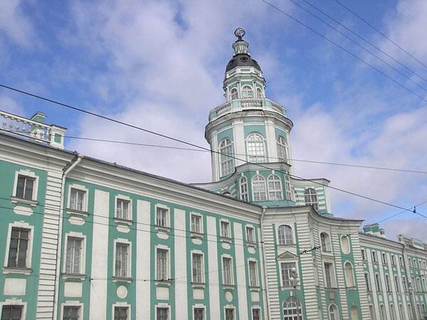 Башня Кунсткамеры, где находилась первая Академическая обсерватория Санкт-Петербурга.