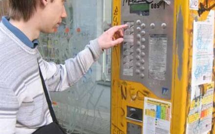 Покупка билета в уличном автомате