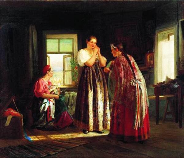 В.М. Максимов. Сборы на гулянье