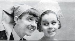 Люба и ее первый муж Валерий Макаров — артисты Омской филармонии (1970)