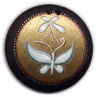 На Востоке изображение двух бабочек — знак супружеского счастья.