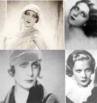 (Слева-направо) Т. Бобрикова, К. Куприна, И. Ге, Н. Палей.