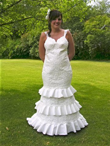 Необычные свадебные платья (35 фото)