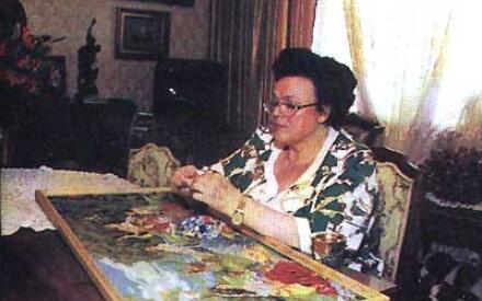 Одно из её увлечений – вышивание, ставшее делом всей жизни и искусством