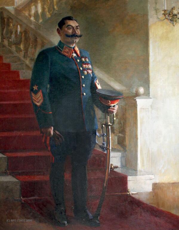 Николай Денисовский. Портрет маршала Советского Союза С. Буденного (1941)