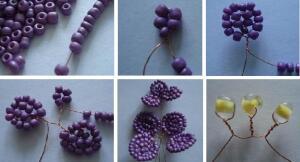 Орхидея из бисера . бисероплетение схемы цветы для начинающих орхидея из бисера. объемное сердце из бисера .