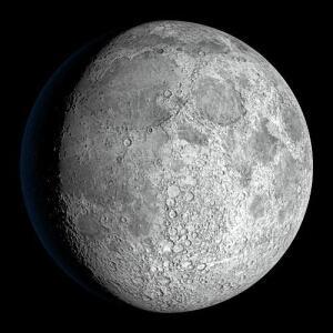 Так выглядит спутник Земли в телескоп.