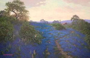 "R. Morris Patterson ""Bluebonnet at Dusk"""