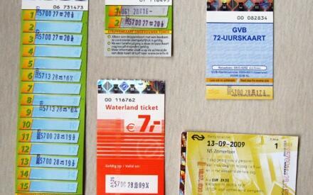 Два вида Strippen kaart, проездной на 72 часа, билет на день на пригородный автобус, летний ж/д билет