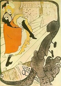 Жанна Авриль, афиша Тулуз-Лотрека, 1893