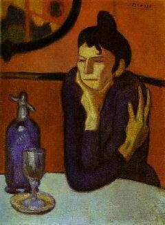 П. Пикассо, Любительница абсента, 1901